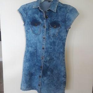 Dresses & Skirts - Distressed Denim Dress